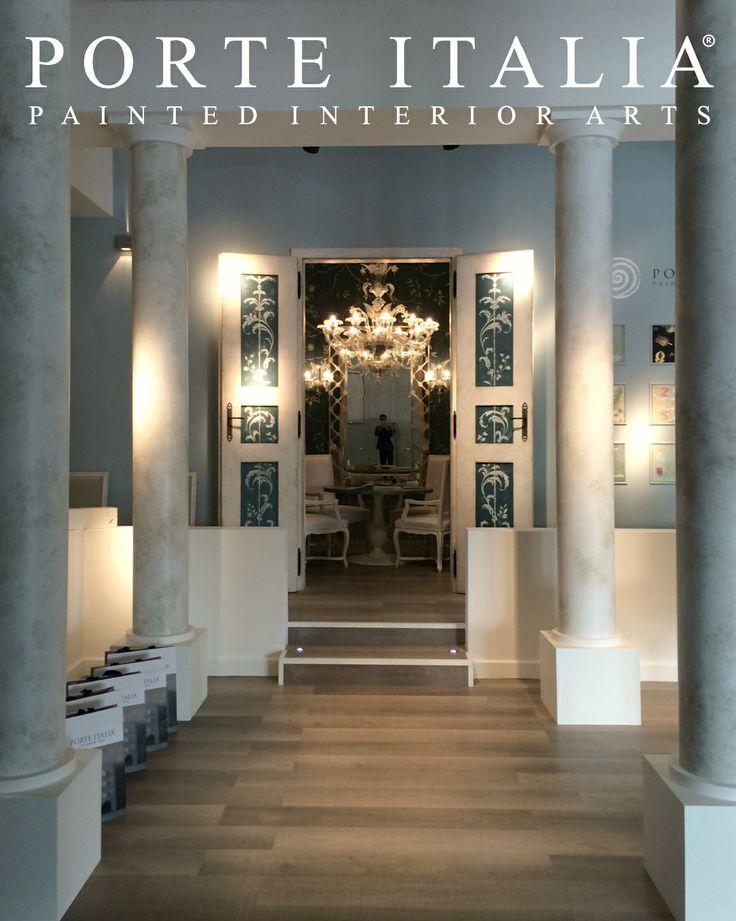 """Our beautiful entrance at Milan Exhibition """"Il Salone del Mobile"""" - Porte Italia Interiors"""