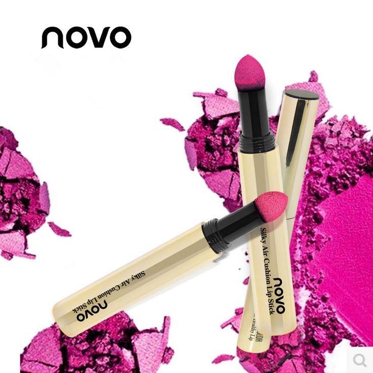 brand NOVO lipstick set labiales batons matte red lip makeup air cushion baton mate long lasting magic lipstick kiss proof rouge