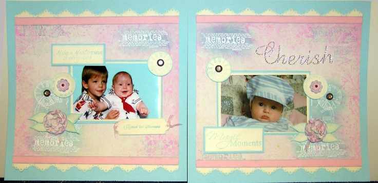 Double page layout created by Kaszazz consultant Cheryl Devlin - 'Grandsons'