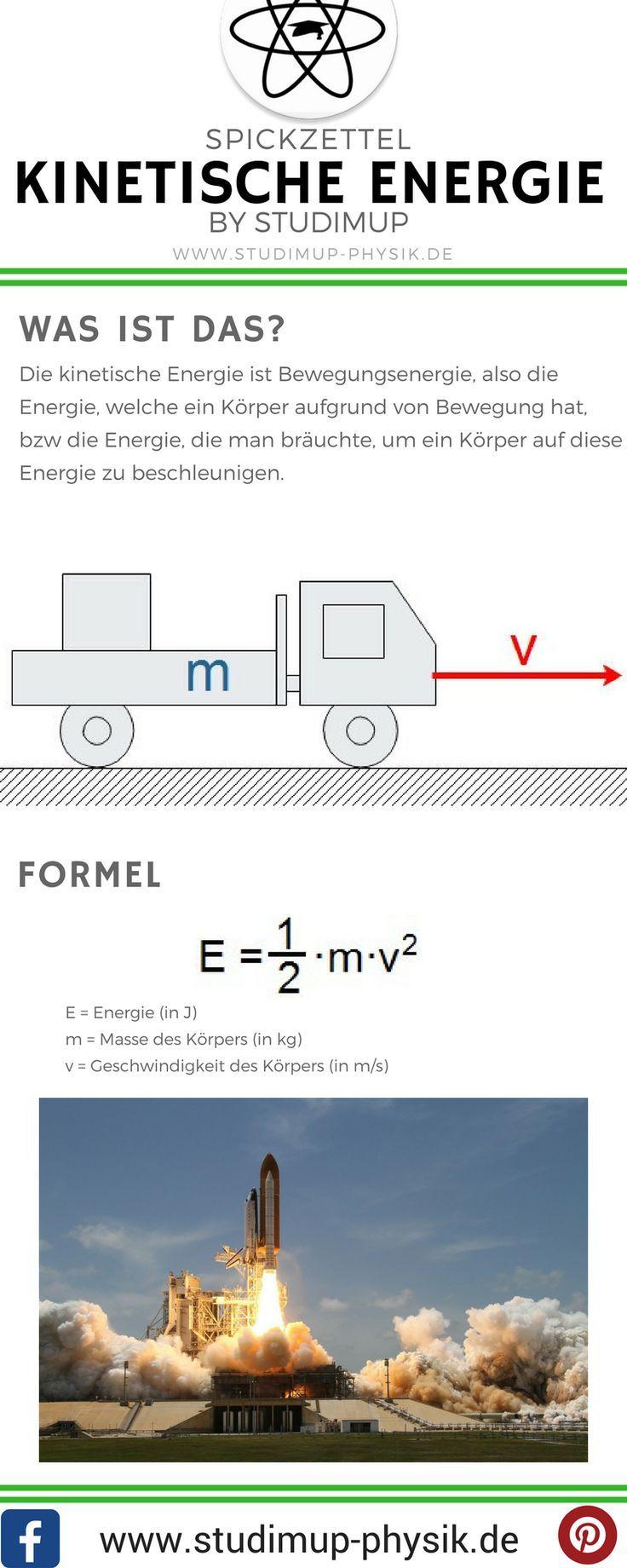 Spickzettel zur kinetischen Energie. Physik einfach lernen mit Studimup – tantilein