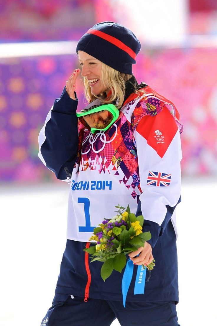Jenny Jones, bronze medalist, snowboarding slope style 9th February 2014 :-)