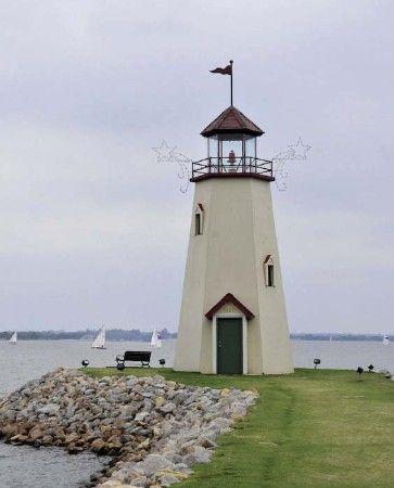 East Wharf Lighthouse located on Lake Hefner in Oklahoma City
