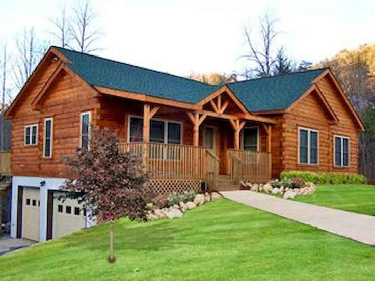 40 Best Log Cabin Homes Plans One Story Design Ideas (44