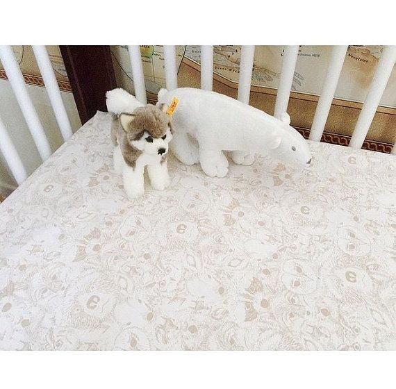 Woodland Baby Bedding - Changing Pad Cover / Fitted Crib Sheet / Standard or Mini Crib Sheet Bedding / Fox Baby Sheet