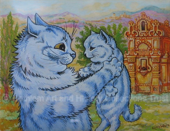 Sweeteness Coyed into its Smile    Louis Wain