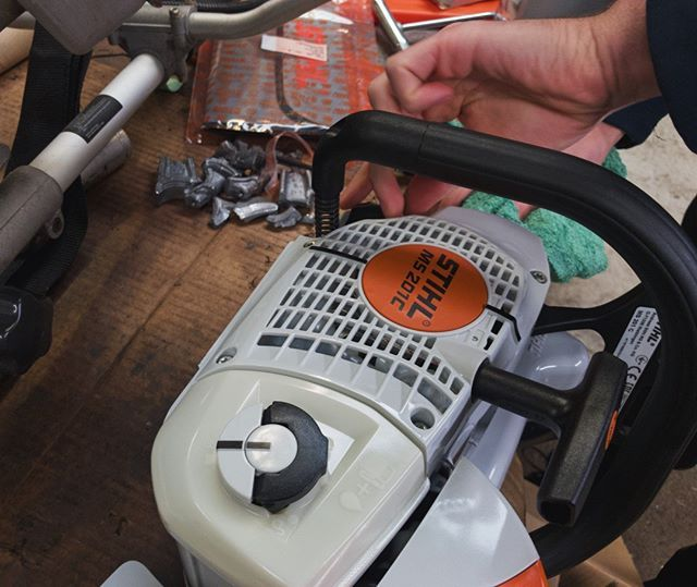 Another day another saw PDI #STIHL #STIHLdealer #MS201C