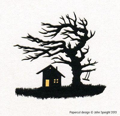 Windigen Ecken Hand-Cut Papercut