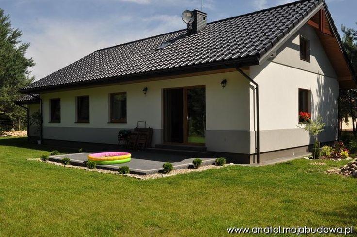 Widok domu o strony ogrodowej  #projekt #dom #ogród