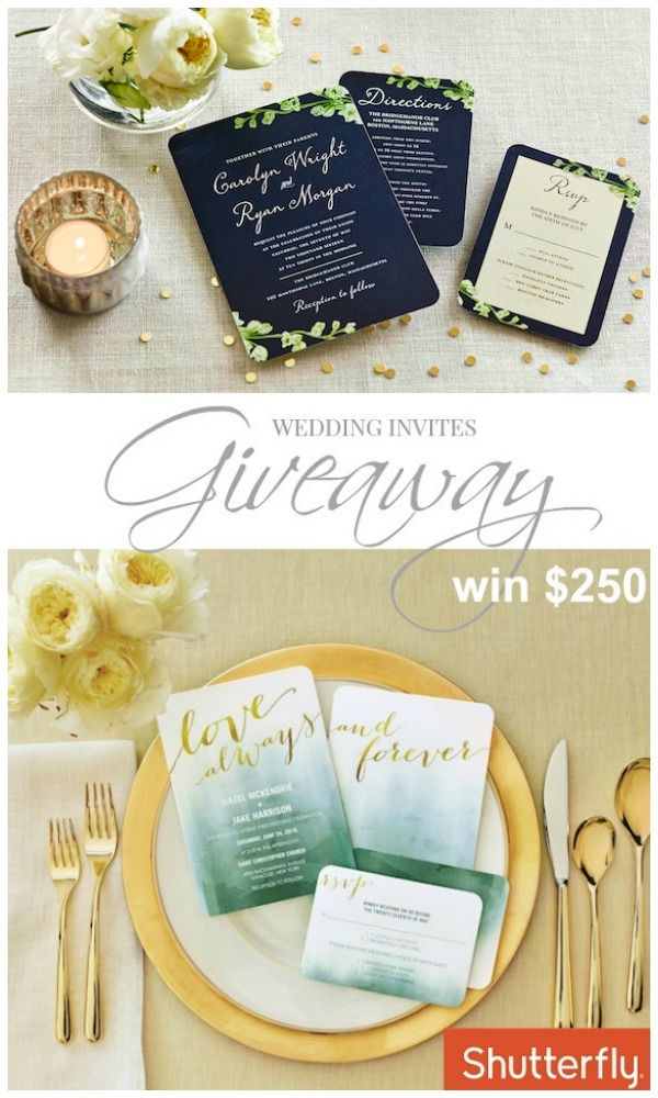 Shutterfly Wedding Invitations + A Giveaway