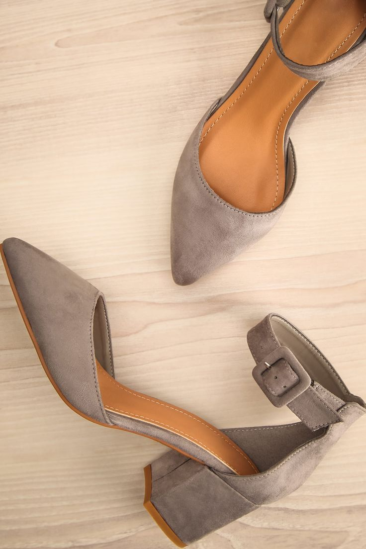 Tairano Pierre #boutique1861 / These trendy block heeled shoes are exquisite in their simplicity. The faux-suede and pointed toe make them the height of style, while the ankle strap and low heel ensure your comfort all night long. No matter the season, no matter the occasion, you'll be able to put your best foot forward.