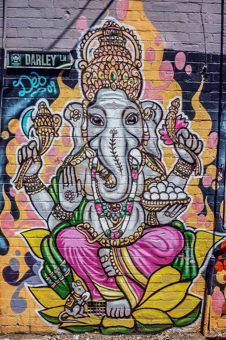 Ganesha mural at Fiji Market, Sydney | heneedsfood.com