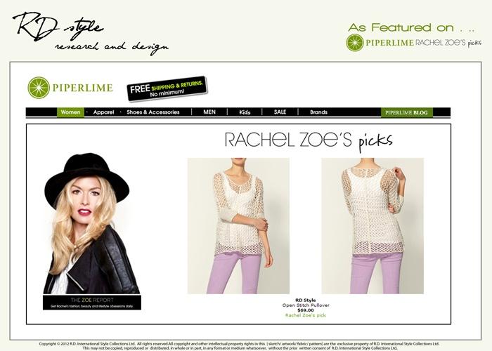 RD Style is Rachel Zoe's Pick in April 2012