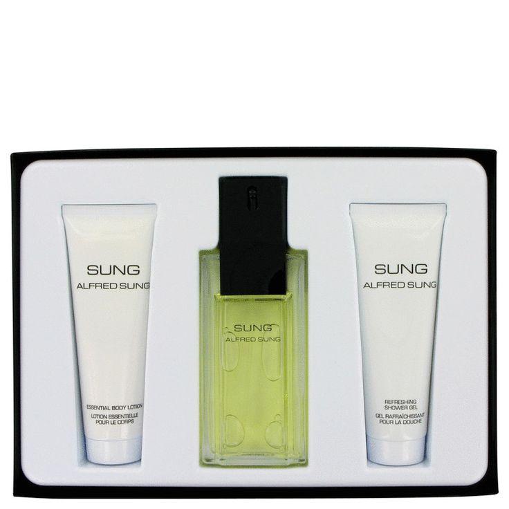 Alfred Sung Gift Set - 3.4 oz Eau De Toilette Spray + 2.5 oz Body Lotion + 2.5 oz Shower Gel