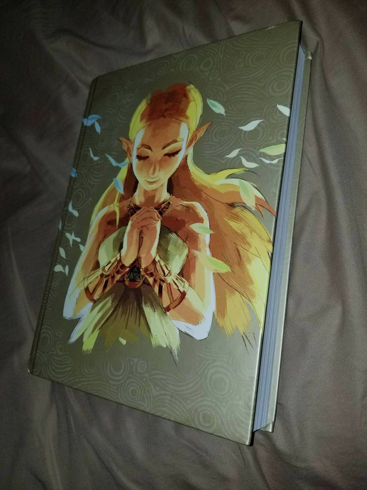 Hardcover guide to Zelda BOTW came in today. The artwork is beautiful. http://bit.ly/2lnzap3 #nintendo
