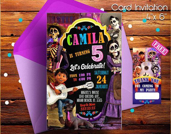 Coco Invitation Coco Movie Invitation Coco Party Coco