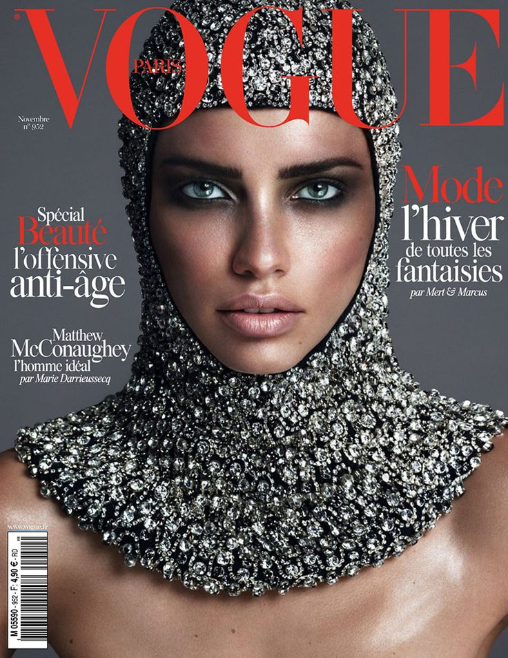 The gorgeous Adriana Lima covers the November issue of Vogue Paris, photographed Mert & Marcus.
