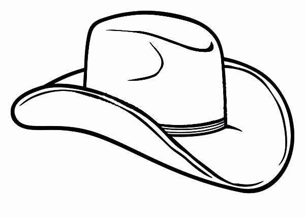 Cowboy Hat Coloring Page Best Of Cowboy Hat Farmer Cowboy Hat
