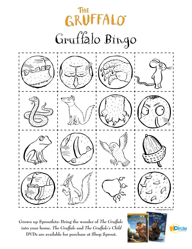 Gruffalo_bingo.jpg (2550×3300); inspiration for gruffalo peg doll and block set