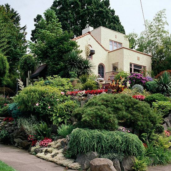 Garden Design For Sloped Garden Ideas: Gardens, Design And Front Yards
