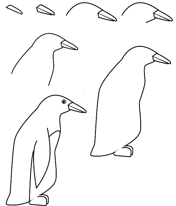 Image result for How to Draw a Penguin Easy
