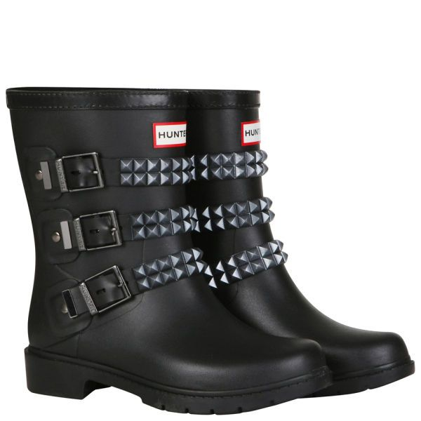 Short Hunter Studded wellies