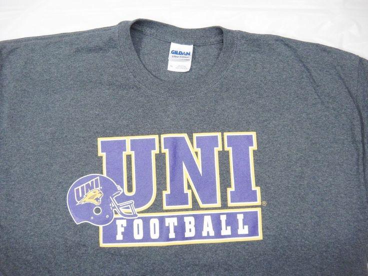 University of Northern Iowa UNI Panthers Football T-Shirt Gray XL Purple & Gold #Gildan #NorthernIowaPanthers