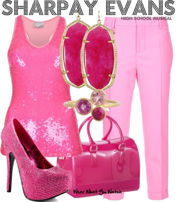 Inspired by character Sharpay Evans played by Ashley Tisdale in Disney's High School Musical movies.