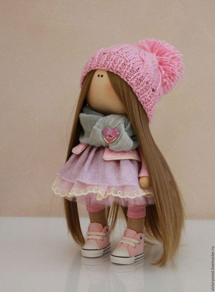 Купить Пиона - бледно-розовый, кукла ручной работы, кукла в подарок, кукла интерьерная