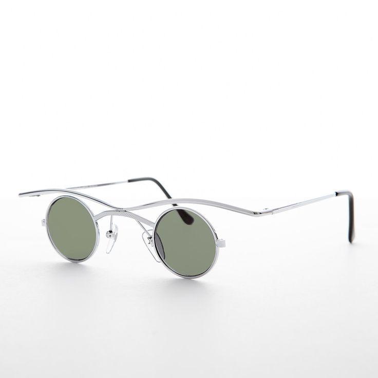 Small Round Goth Victorian Steampunk Sunglasses NOS -EMMETT