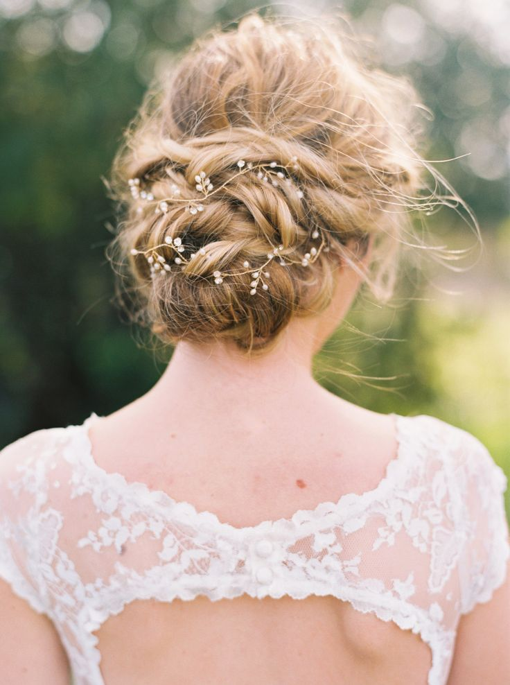 Bridal Gold Hair Vine Bridal Hair Vine Pearl by ABitofLoveWedding