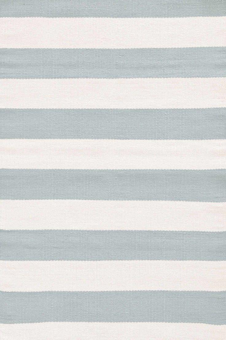 Dash And Albert Catamaran Stripe Light Blue/Ivory