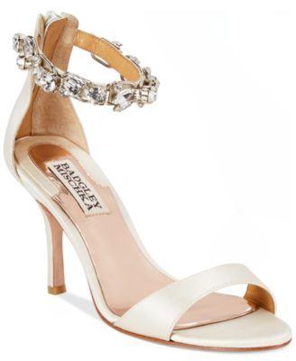 Badgley Mischka Klark Two-Piece Evening Sandals | macys.com
