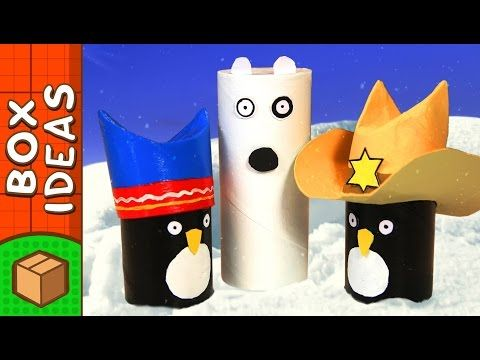 Polar Bear Surprise - DIY Paper Roll Crafts For Kids | Box Yourself - YouTube