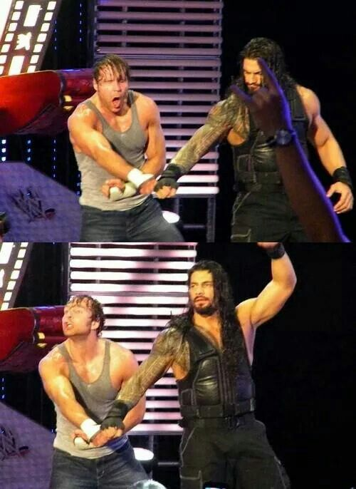 The Shield Back Again!!!brothers for ever Roman reigns and Dean Ambrose they do make a good team believe that