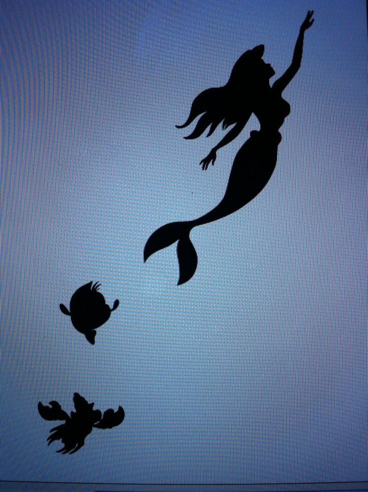 Little mermaid silhouette. I like this one for a tattoo