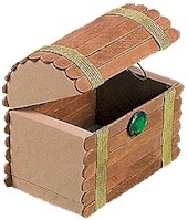 craft stick treasure chest - just need to find something to cut squares and semicircles from