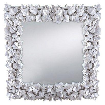 Prinz Wall Mirror Square White 12x12 Mirrors