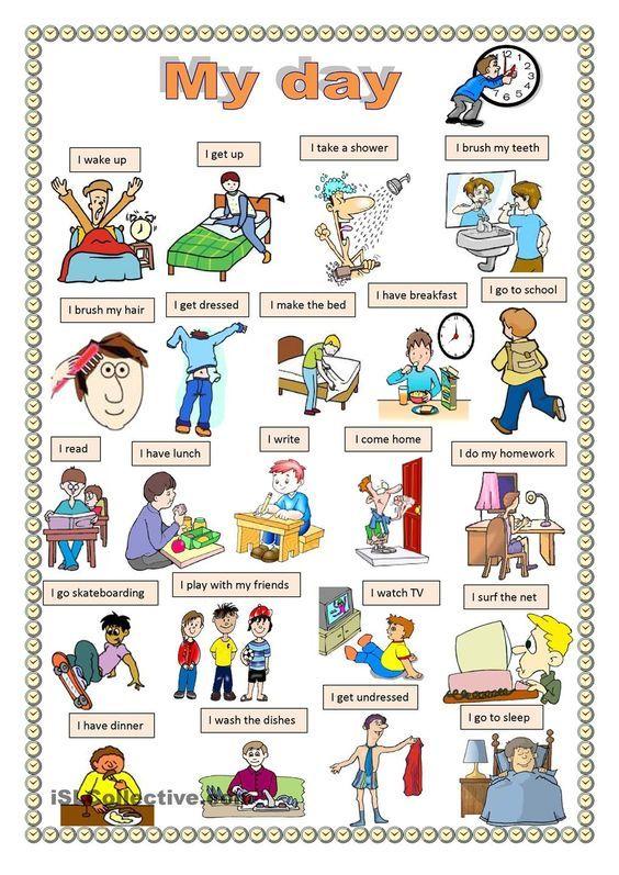 My day. worksheet - Free ESL printable worksheets made by teachers: