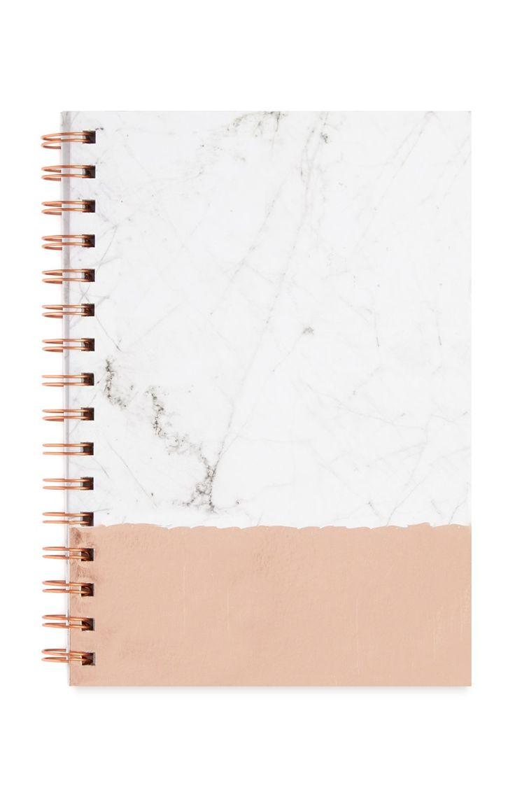 Primark - Bloco de notas A5 mármore cobre