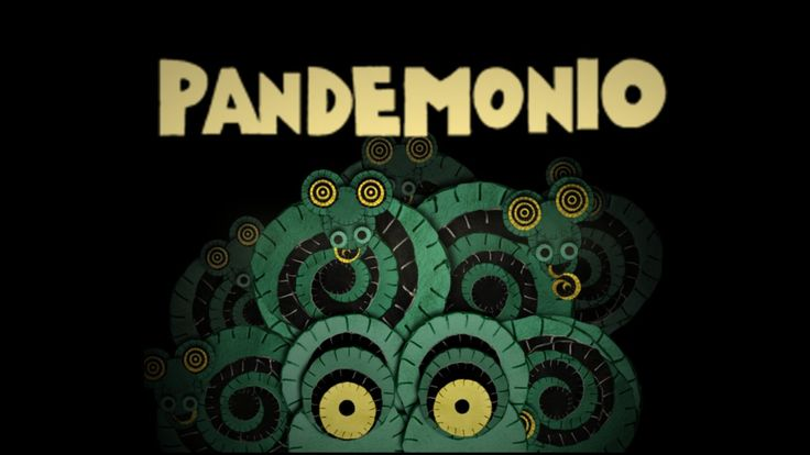 Pandemonio is a kaleidoscope of monsters, animals and other strange creatures brought to life by the primitive and franzied pace of Zu's music. Each figure is made by overlapping felt circles. The animation is obtained by moving, resizing and painting every circle without deforming its perfect shape. Have fun!