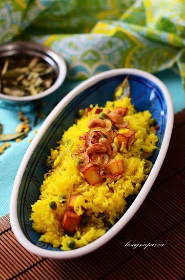 RISO INDIANO AL FORMAGGIO PANEER KE CHEVAL da India in cucina – a cura di Pushpesh Pant