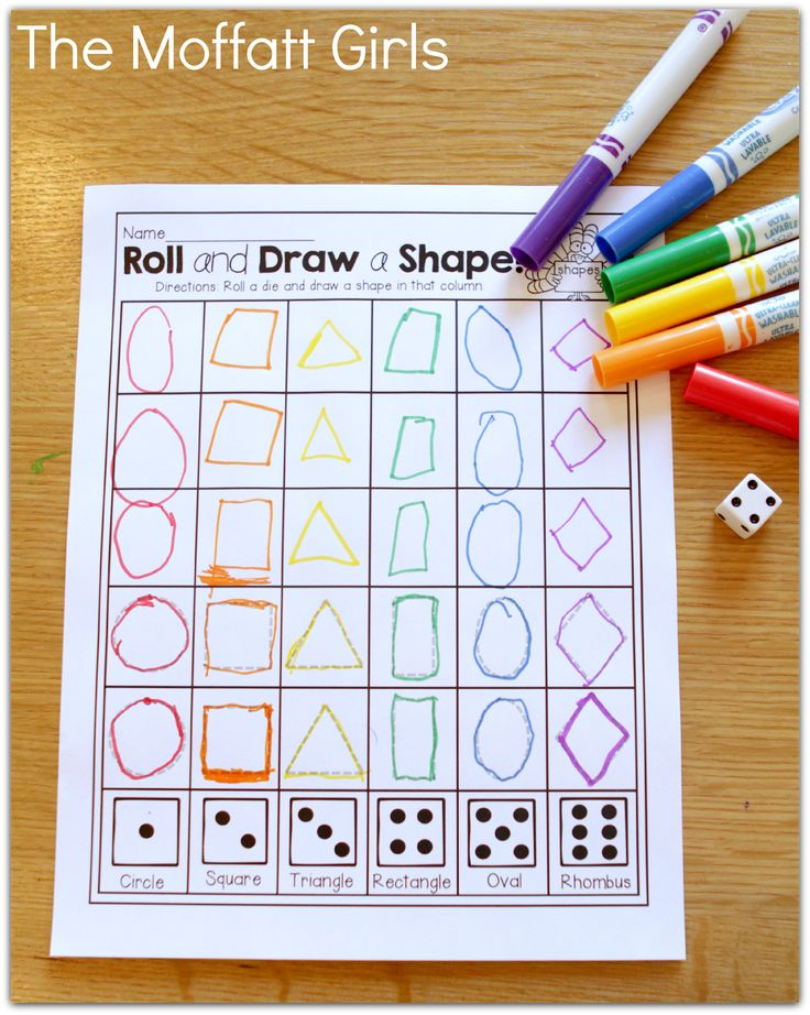 Roll and Draw a SHAPE!  How FUN and effective!