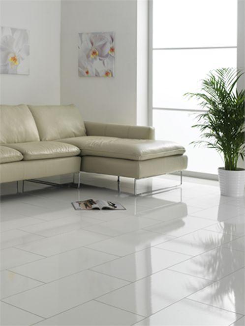 Gloss Tile Effect Laminate Flooring Part - 35: White Laminate Flooring 8mm Glossy Tiles. This Company Is In The Uk, But I