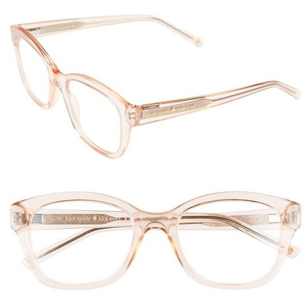 kate spade new york  tanya  49mm reading glasses ( 68) ❤ liked on Polyvore  featuring accessories, eyewear, eyeglasses, acetate glasses, clear … 1a55e342425b