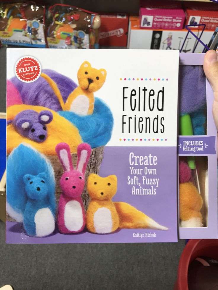 Felted friends #kids #crafts #crafty #diy #toys #toystore #klutz #imagination #imaginationstation #fun #create