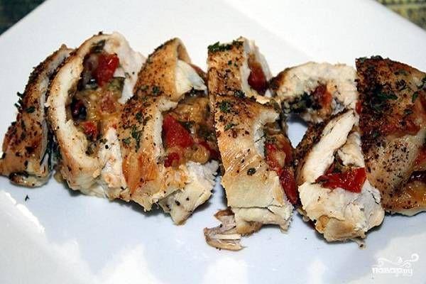 Фаршированные куриные грудки - пошаговый рецепт с фото на Повар.ру