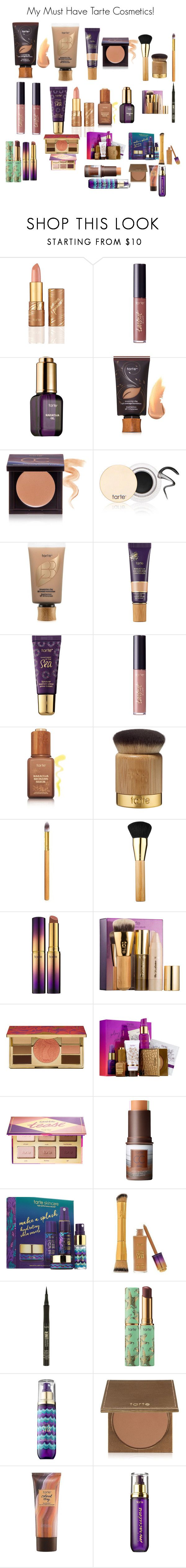 """""""My Must Have Tarte Cosmetics!"""" by minadinamike ❤ liked on Polyvore featuring beauty and tarte"""
