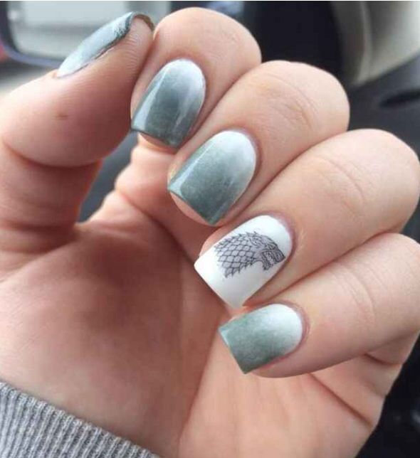 27 best game of thrones 3 images on pinterest nail designs nail art game of thrones grey from winterfell prinsesfo Choice Image