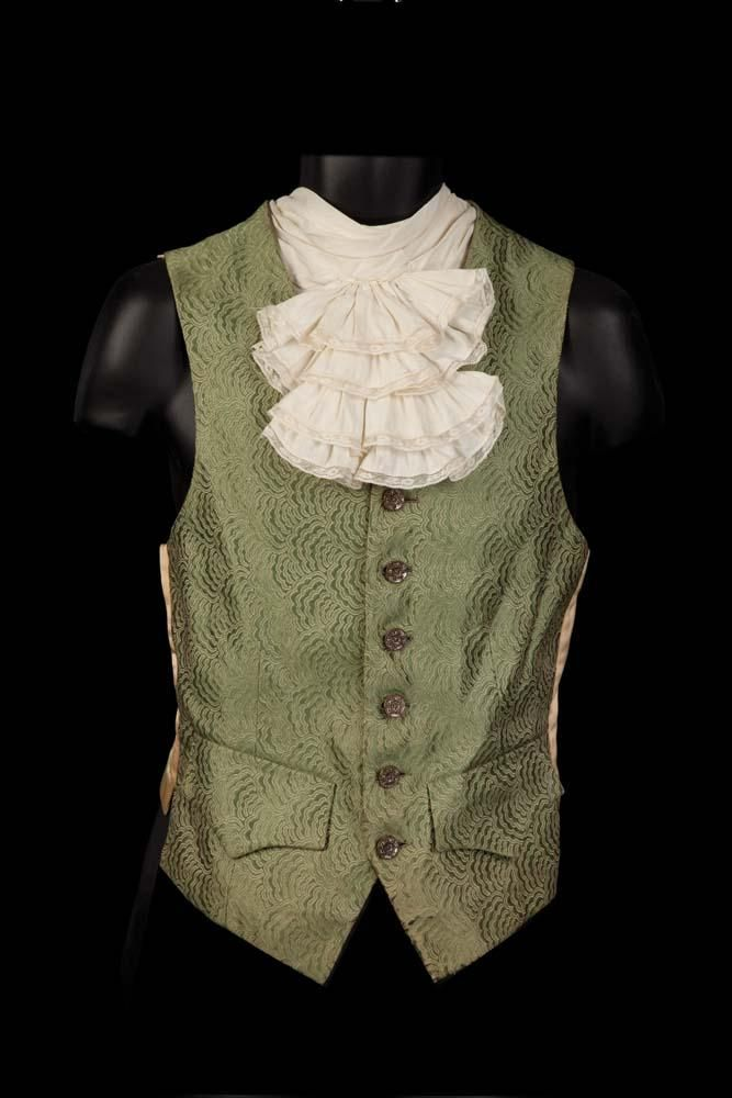 """Tyrone Power """"Count Axel de Fersen"""" coat and two vests by Gile Steele for Marie Antoinette"""