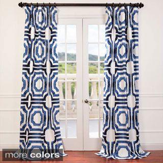 Exclusive Fabrics Mecca Printed Cotton Curtain Panel